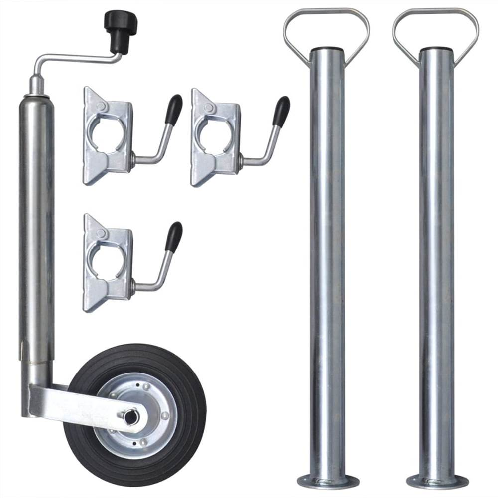 48 mm Jockey Wheel with 2 Support Tubes & 3 Split Clamps
