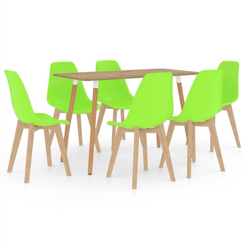 Ensemble de salle à manger 7 pièces vert