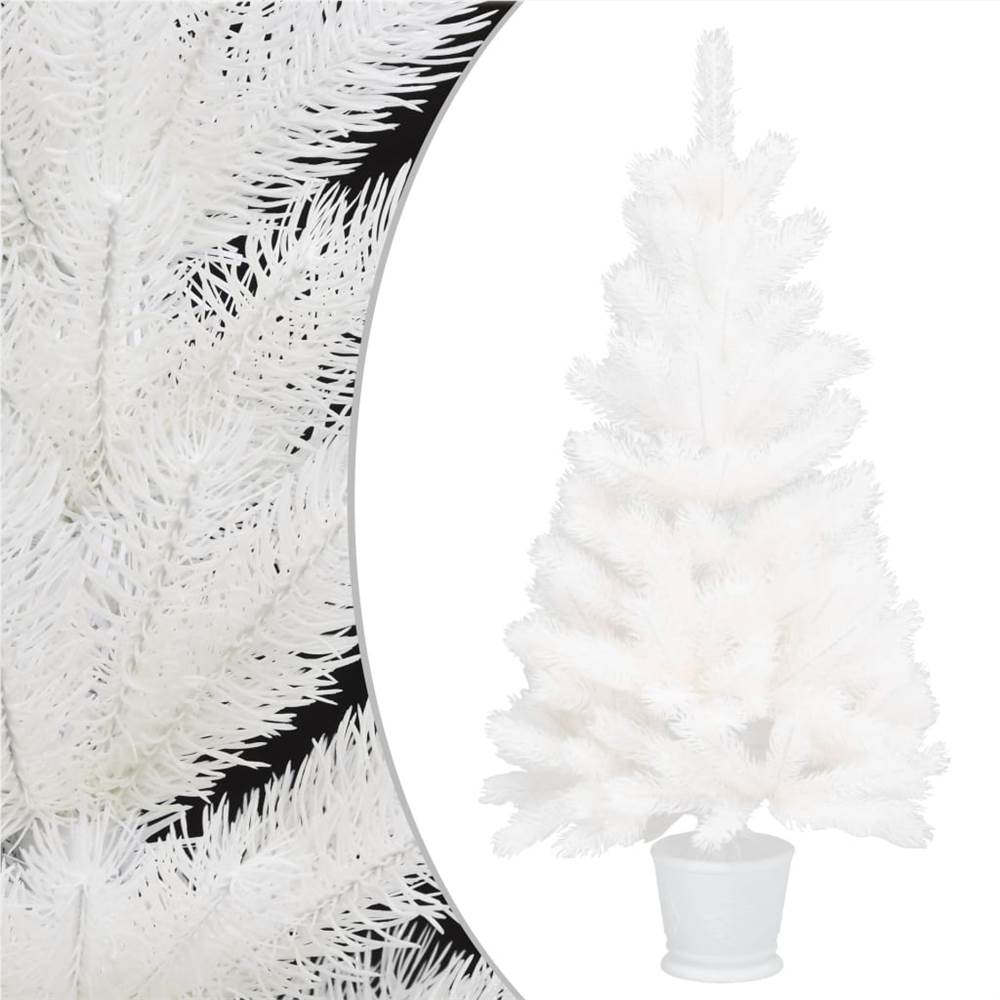 Aiguilles réalistes pour sapin de Noël artificiel blanc 90 cm