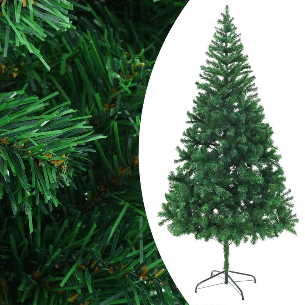 Sapin de Noël artificiel avec support en acier 210 cm 910 branches