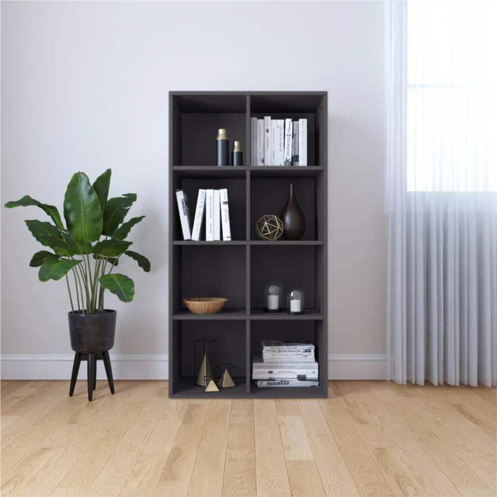 Book Cabinet/Sideboard Grey 66x30x130 cm Chipboard