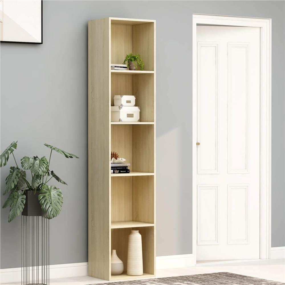 Book Cabinet Sonoma Oak 40x30x189 cm Chipboard