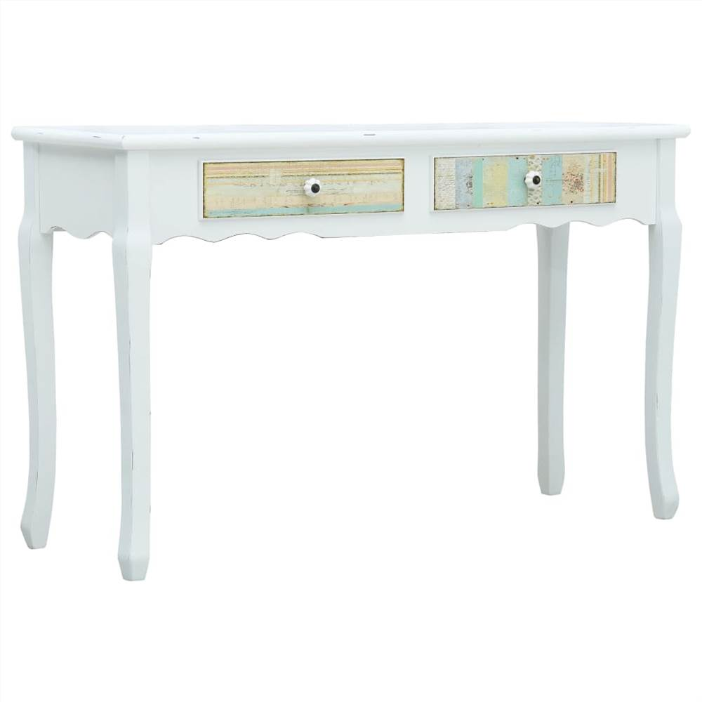 Console Table White 120x40x74.5 cm Wood
