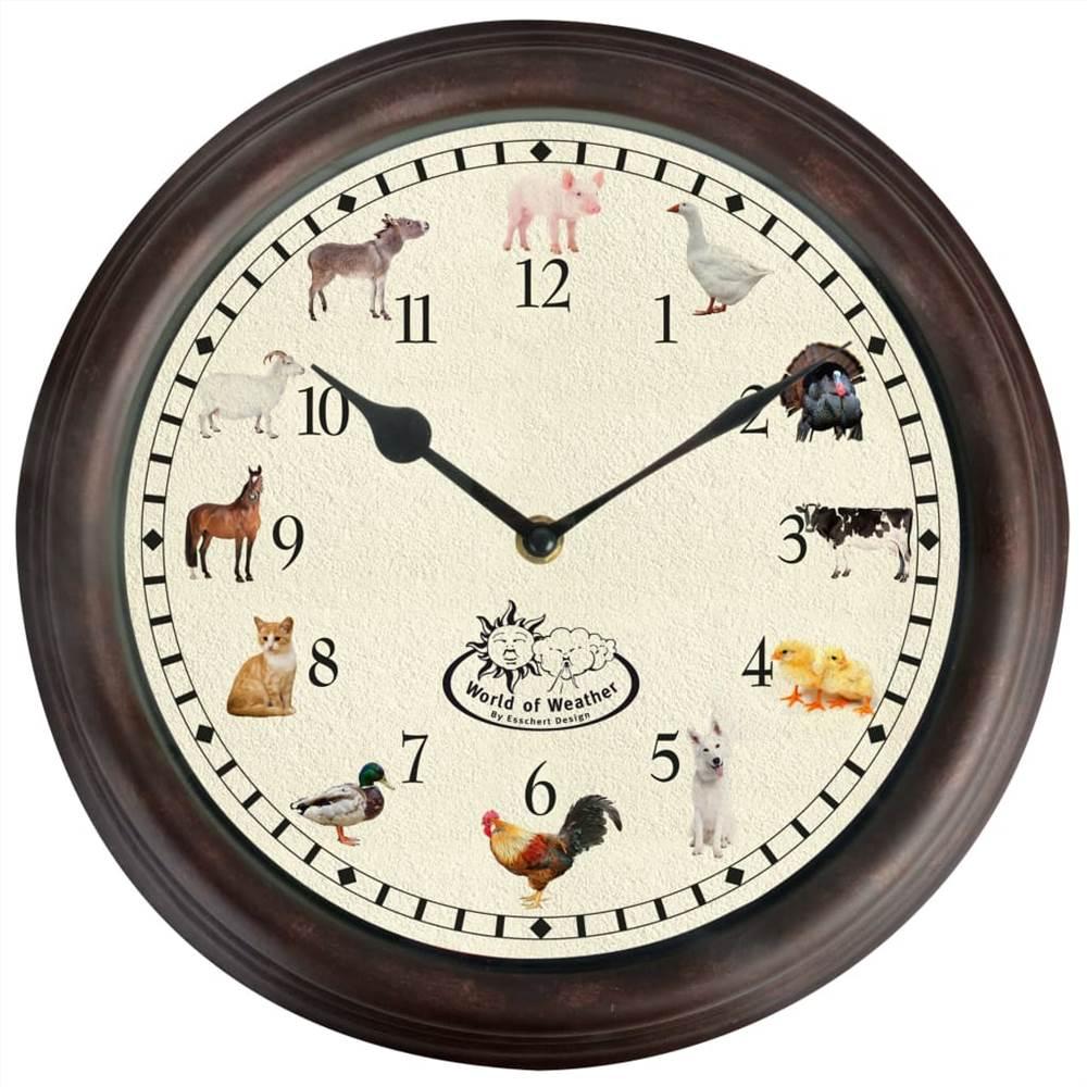 Orologio di design Esschert con suoni di animali della fattoria