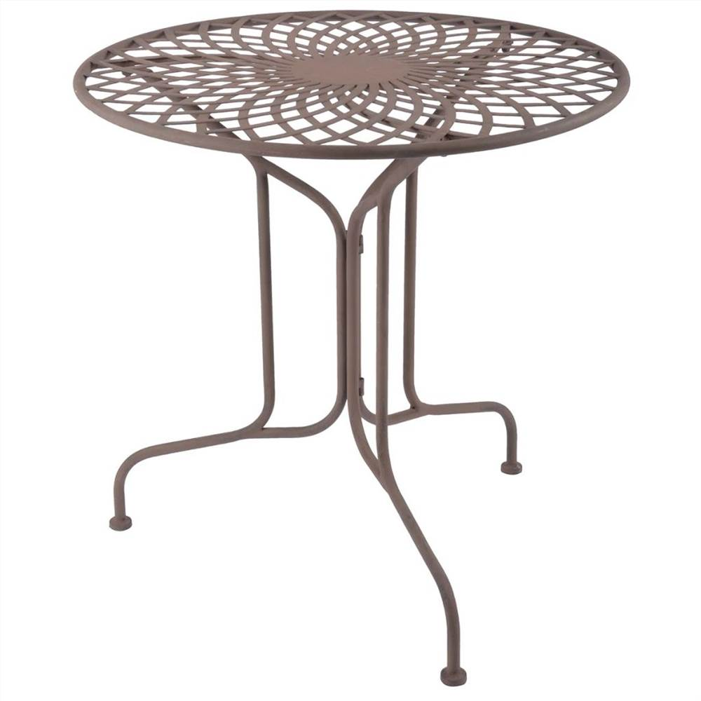 Esschert Design Round Foldable Table White