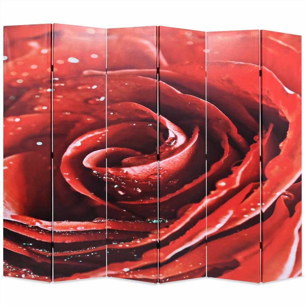 Cloison pliante 228x170 cm Rose Rouge