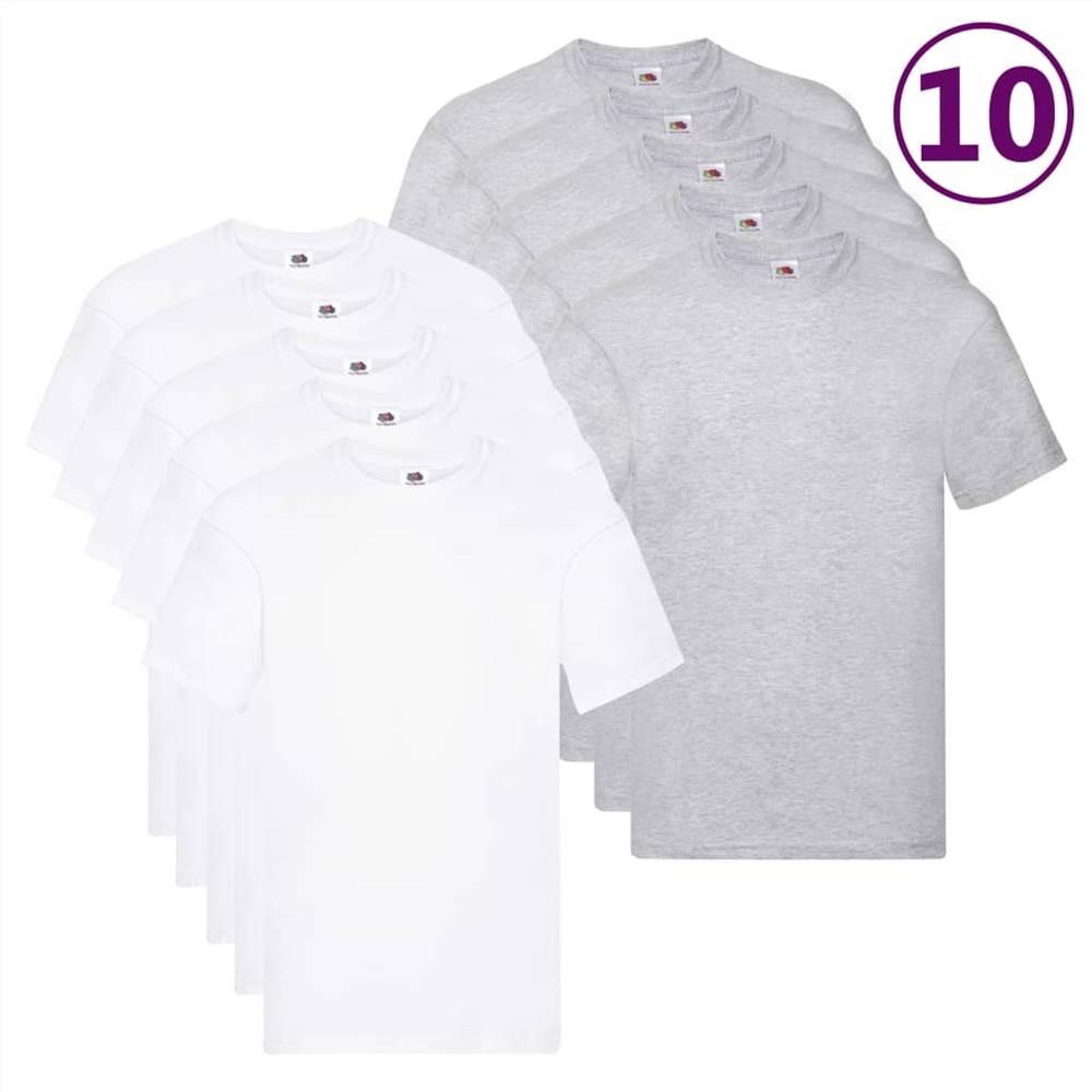 Fruit of the Loom T-shirts originaux 10 pièces 3XL Coton