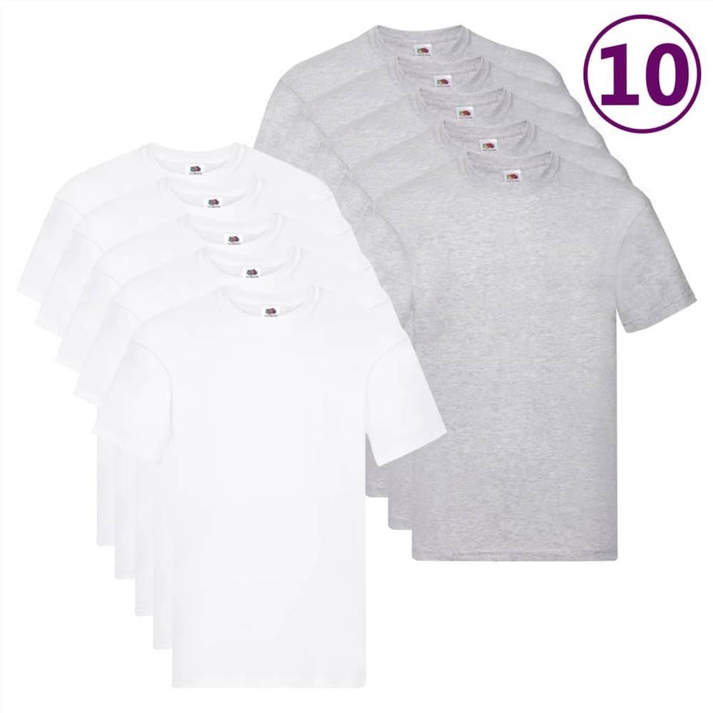 Fruit of the Loom T-shirts originaux 10 pièces XL Coton