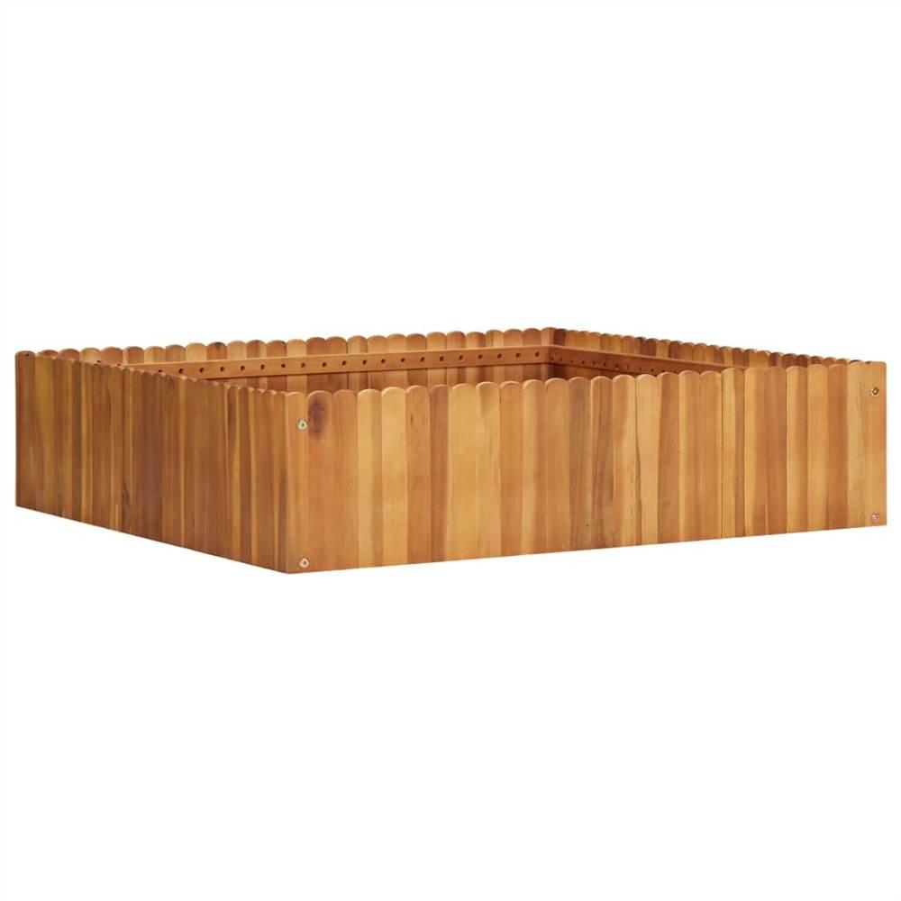 ガーデンレイズドベッド100x100x25cmソリッドアカシアウッド