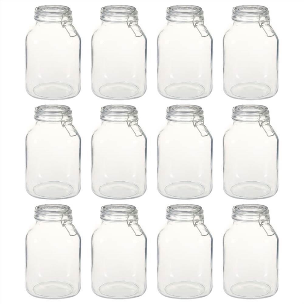 ロック付きガラス瓶12個3L