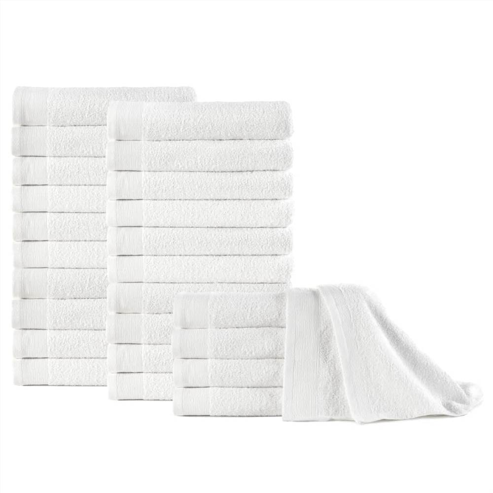 Hand Towels 25 pcs Cotton 350 gsm 50x100 cm White