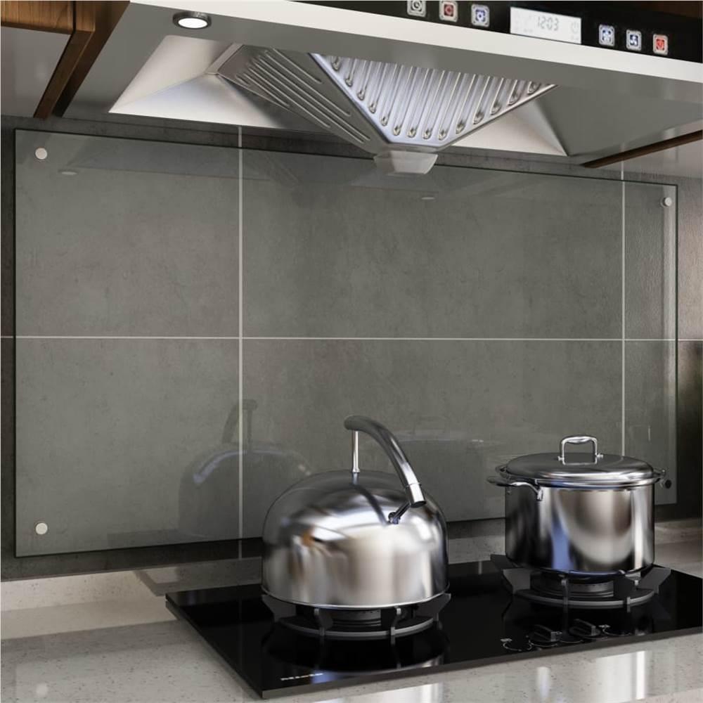 キッチンバックスプラッシュ透明120x60cm強化ガラス
