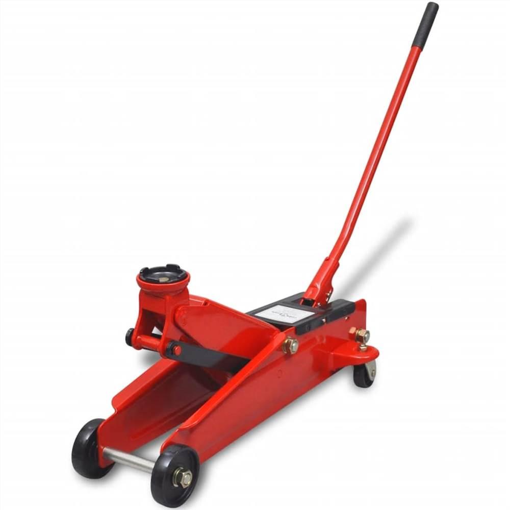 Cric de plancher hydraulique à profil bas 3 tonnes rouge