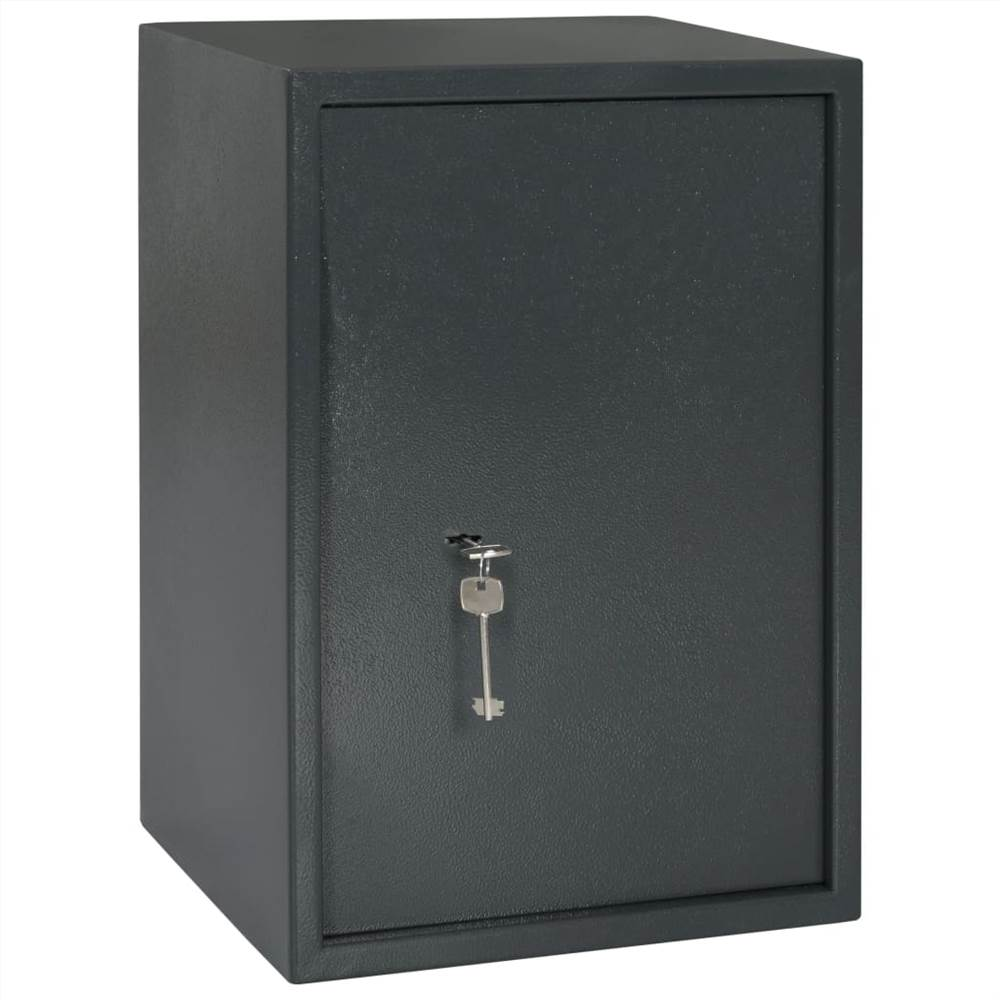 Mechanical Safe Dark Grey 35x31x50 cm Steel