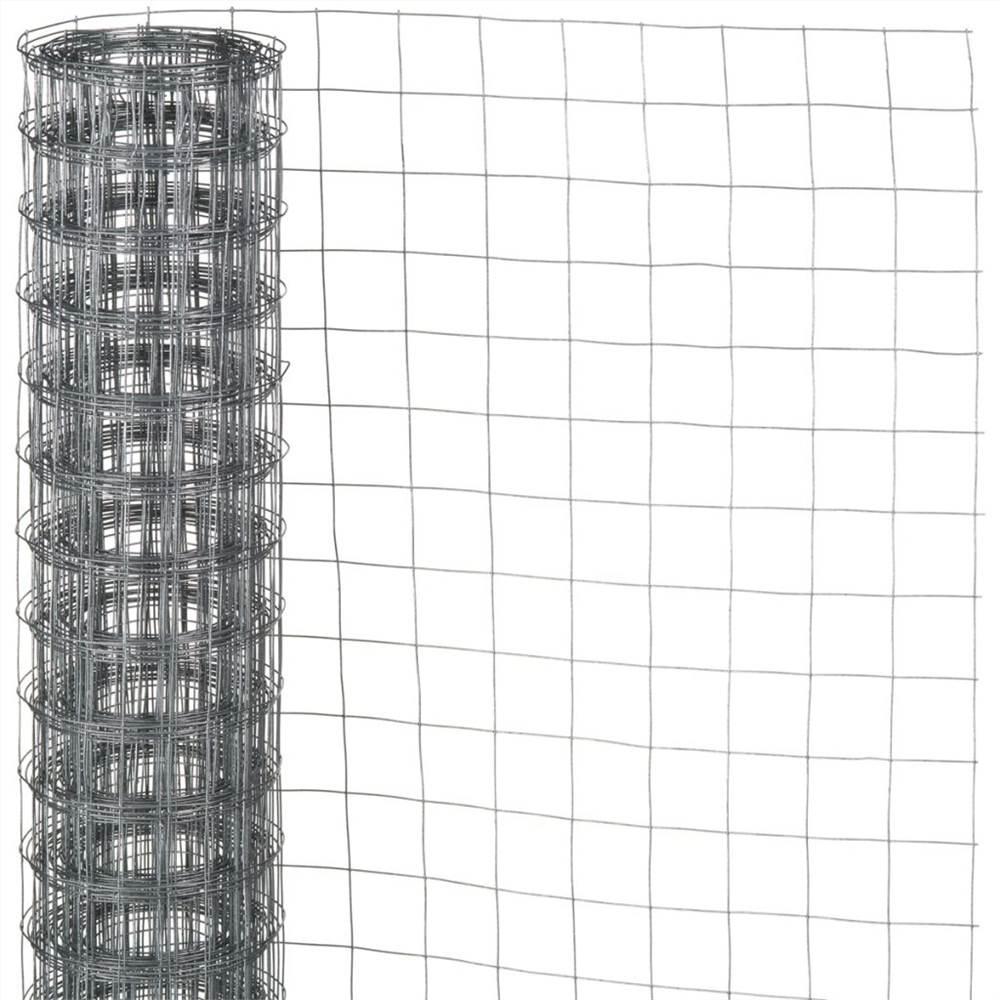 Nature Wire Mesh Square 0.5x2.5 m 6.4 mm Galvanised Steel