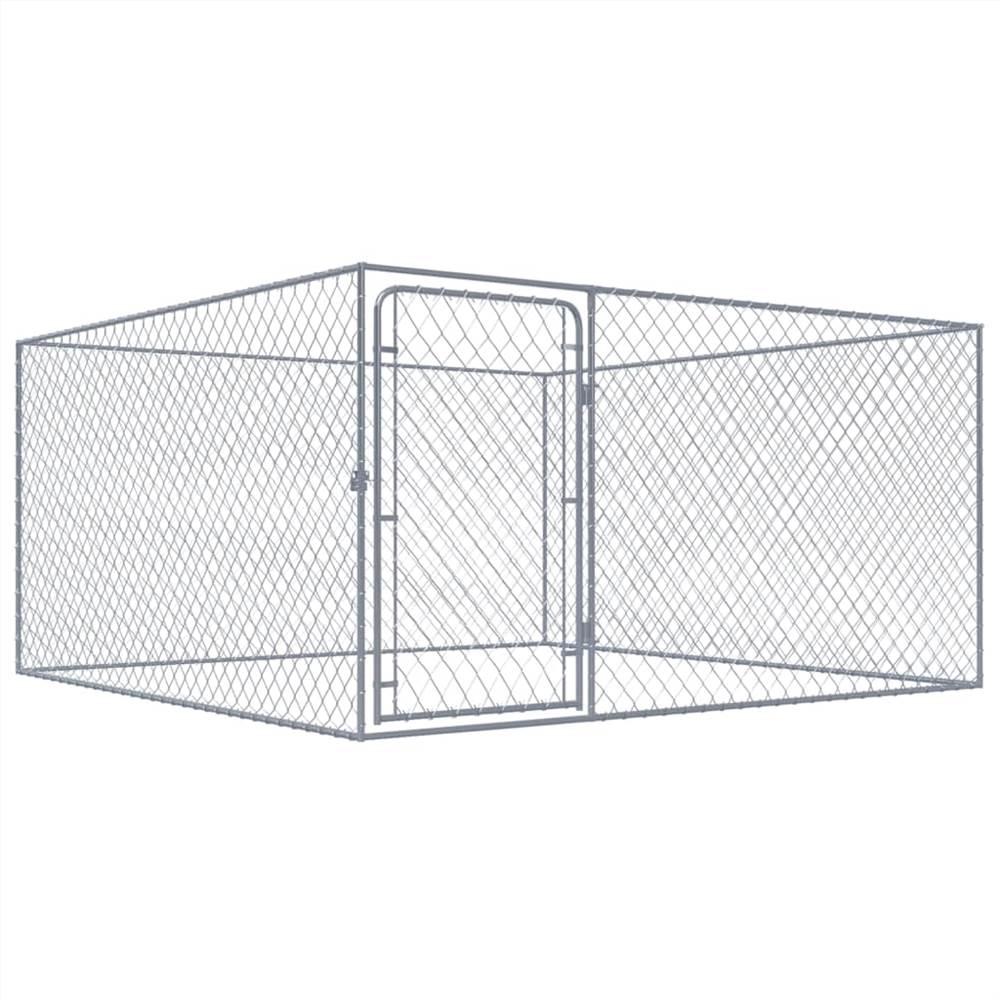 屋外犬小屋亜鉛メッキ鋼2x2x1m