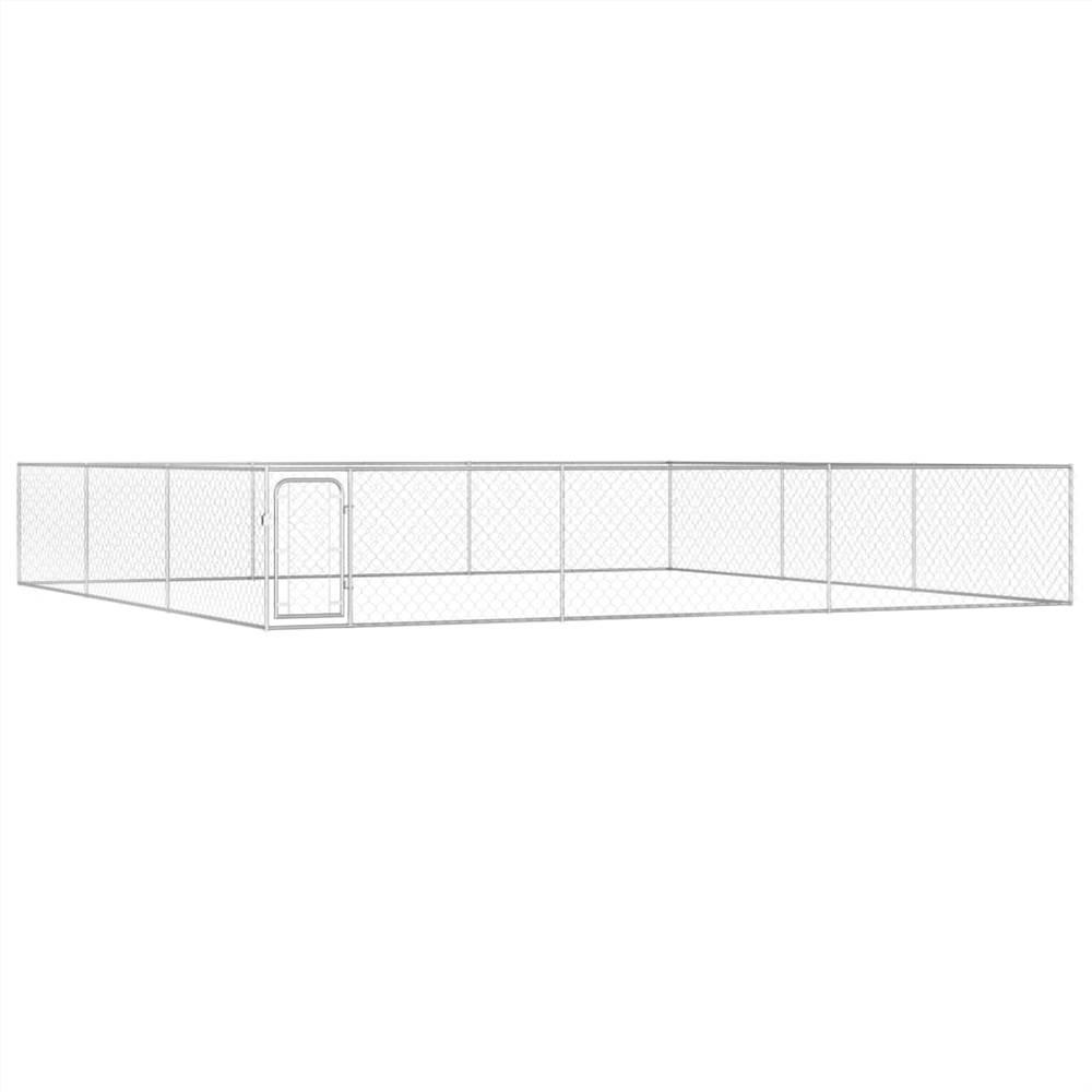 屋外犬小屋亜鉛メッキ鋼6x6x1m