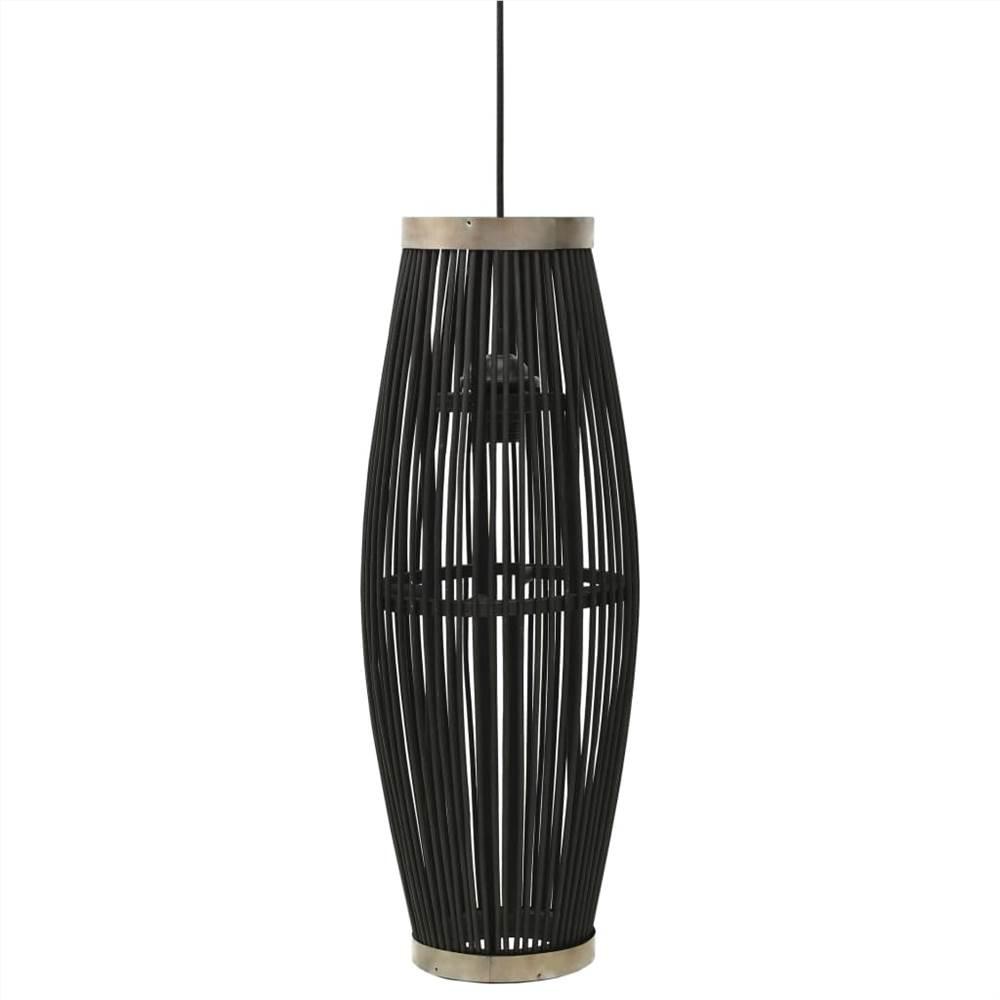 Pendant Lamp Black Willow 40 W 27x68 cm Oval E27