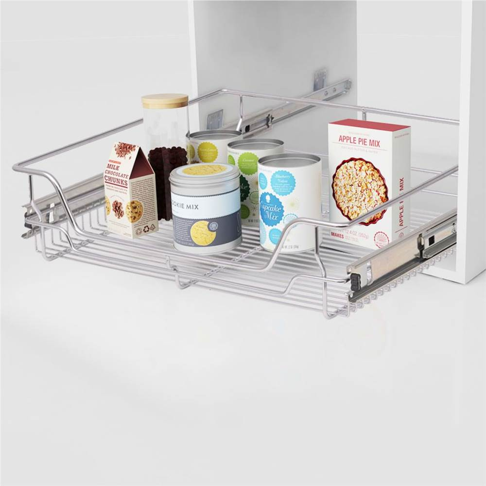 Pull-Out Wire Baskets 2 pcs Silver 600 mm