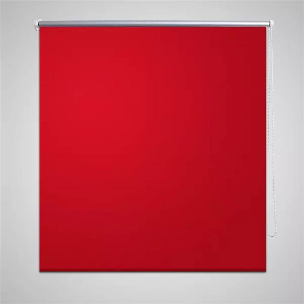 ローラーブラインドブラックアウト120x 230cm赤