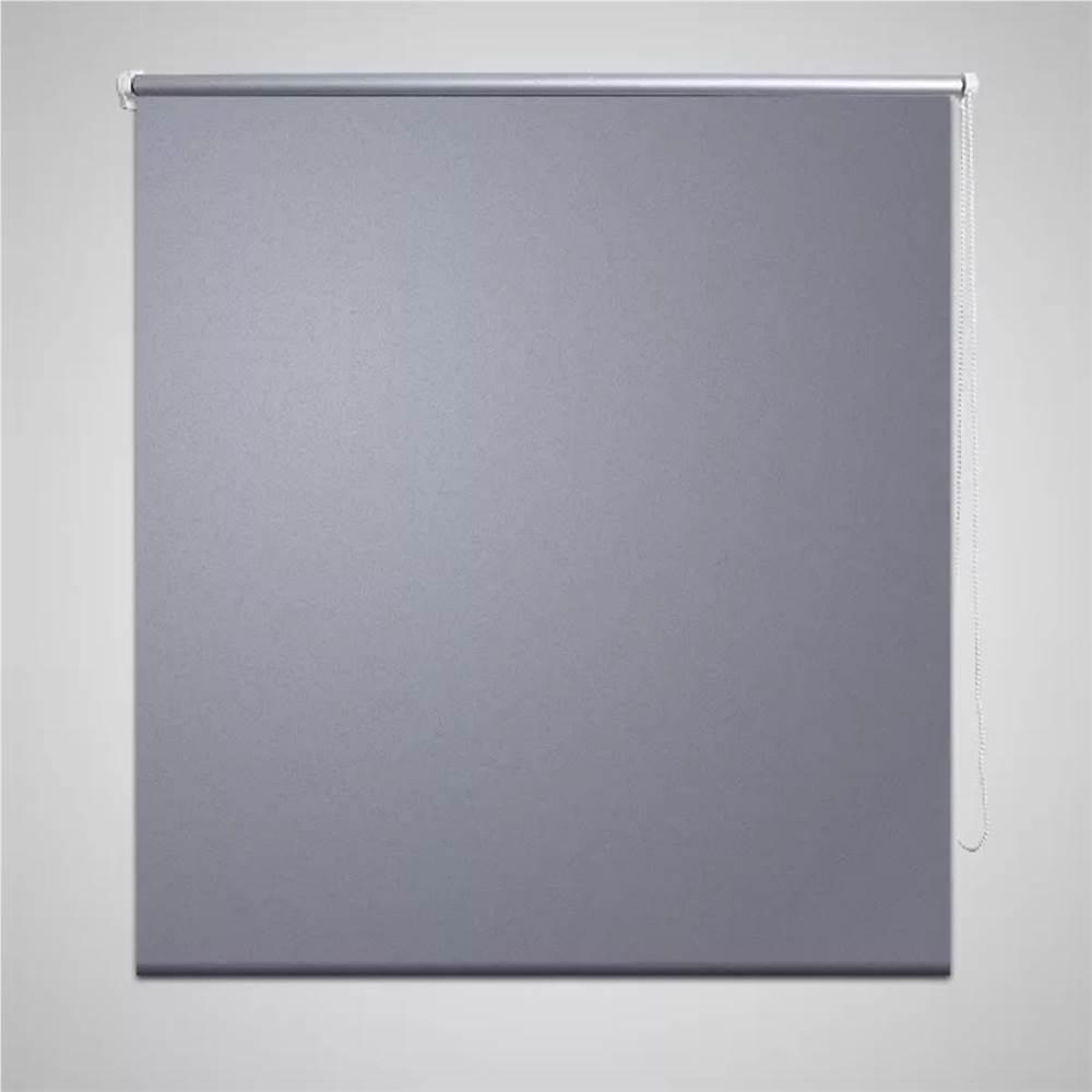 Rollo Blackout 80 x 230 cm Grau