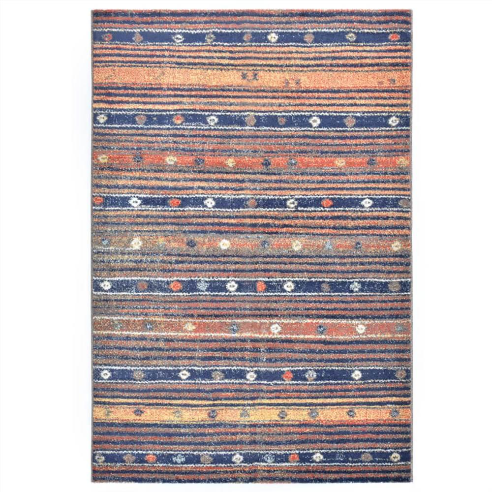 Rug Blue and Orange 80x150 cm PP