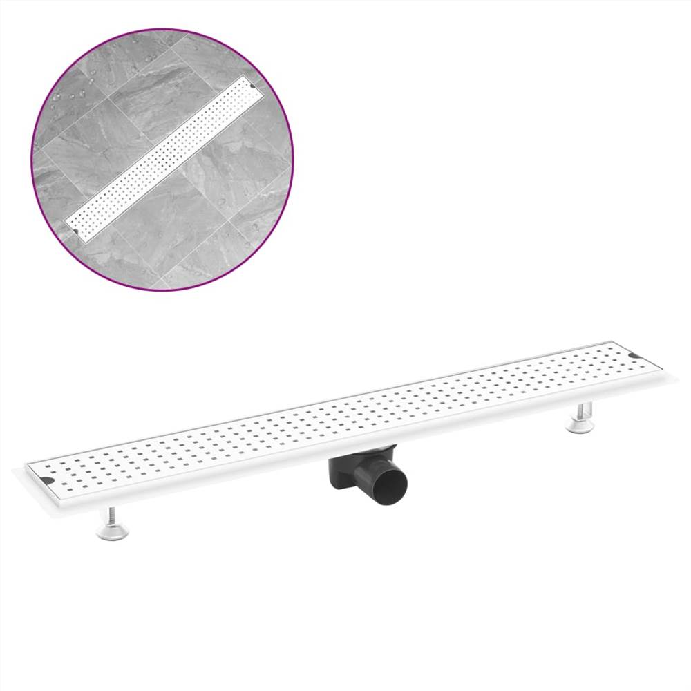 Shower Drain Dots 83x14 cm Stainless Steel