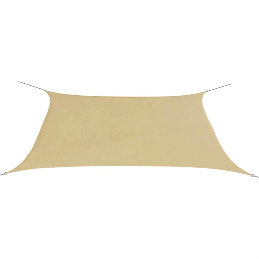 Sunshade Sail Oxford Fabric Rectangular 2x4 m Beige