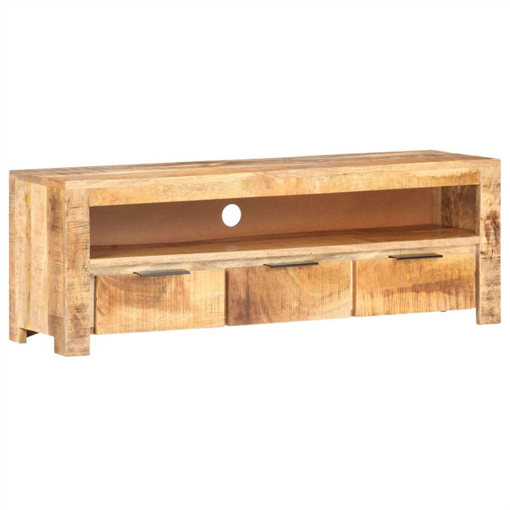 TV Cabinet 119x30x41 cm Rough Mango Wood