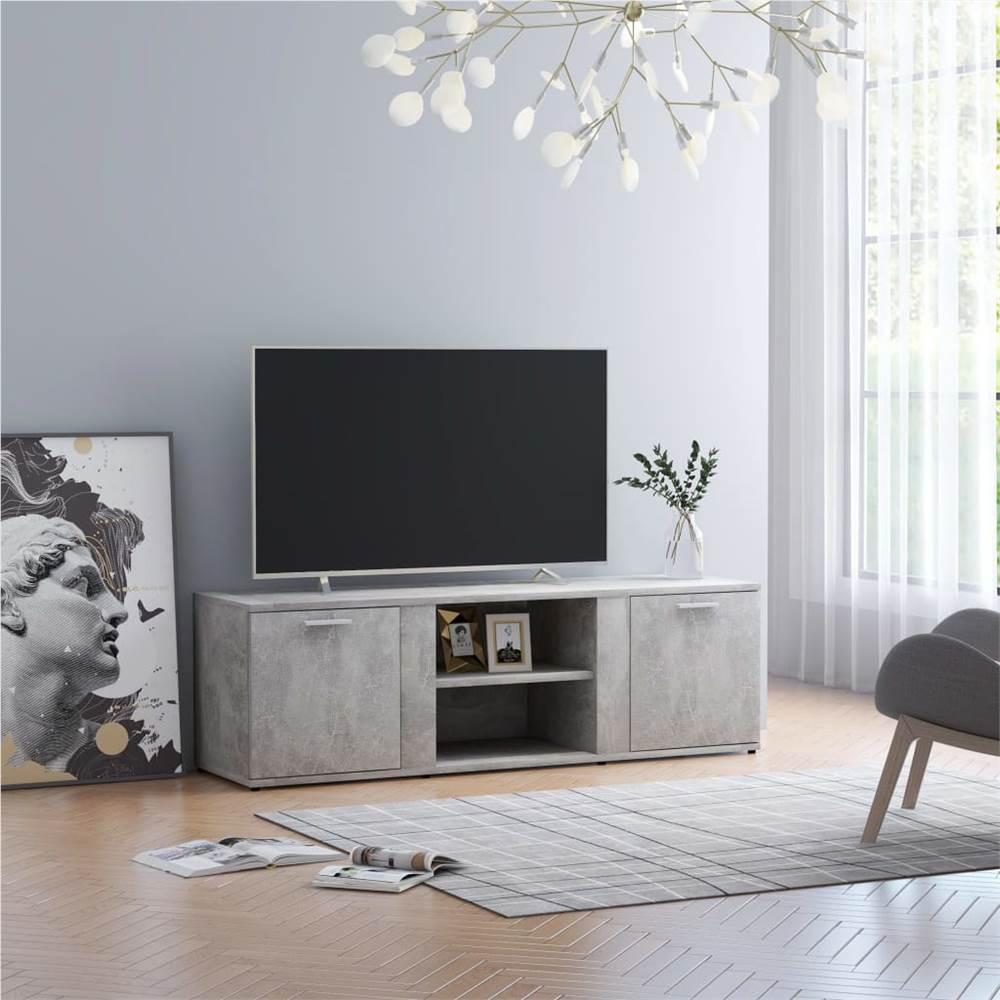 TV Cabinet Concrete Grey 120x34x37 cm Chipboard