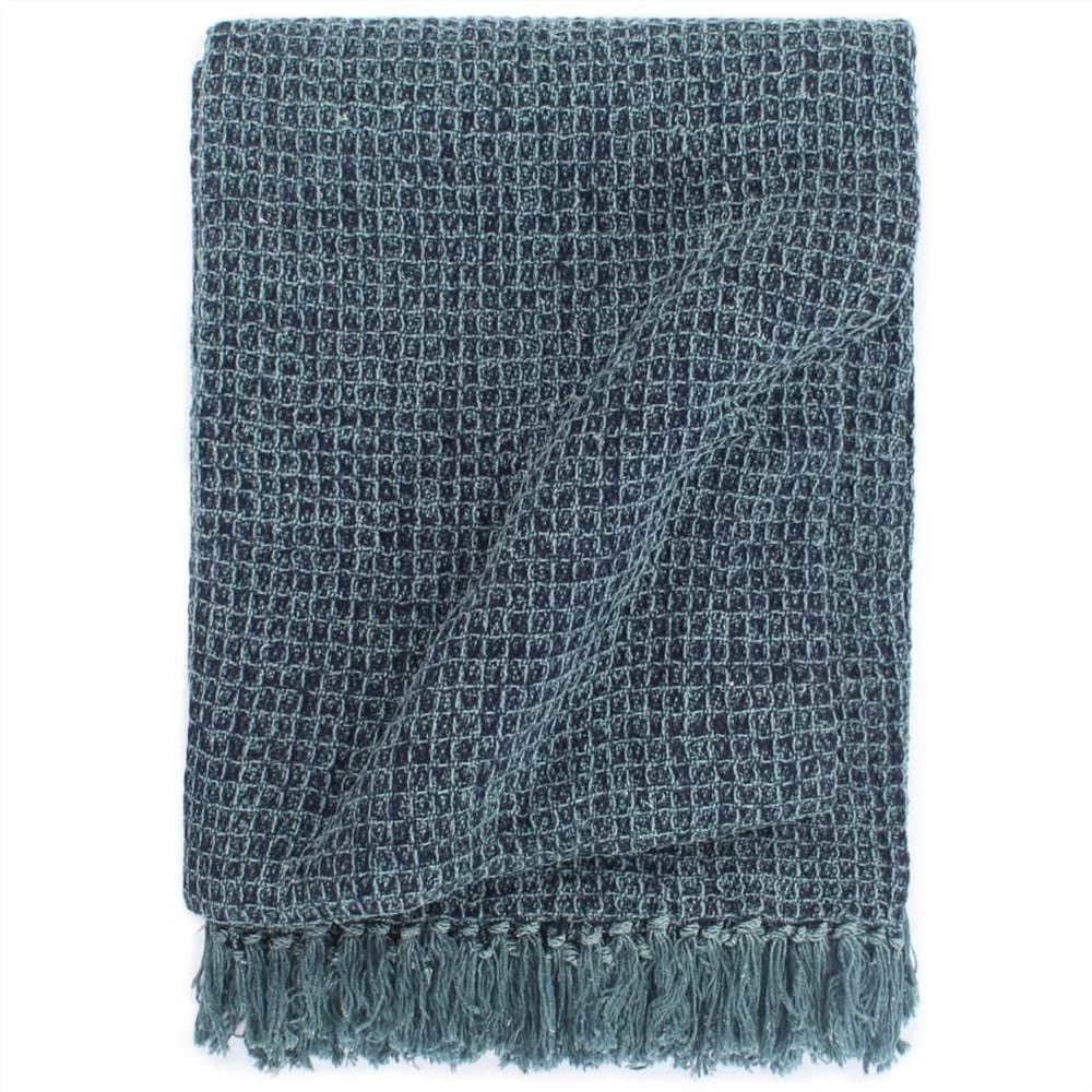 Jeté Coton 125x150 cm Bleu Indigo