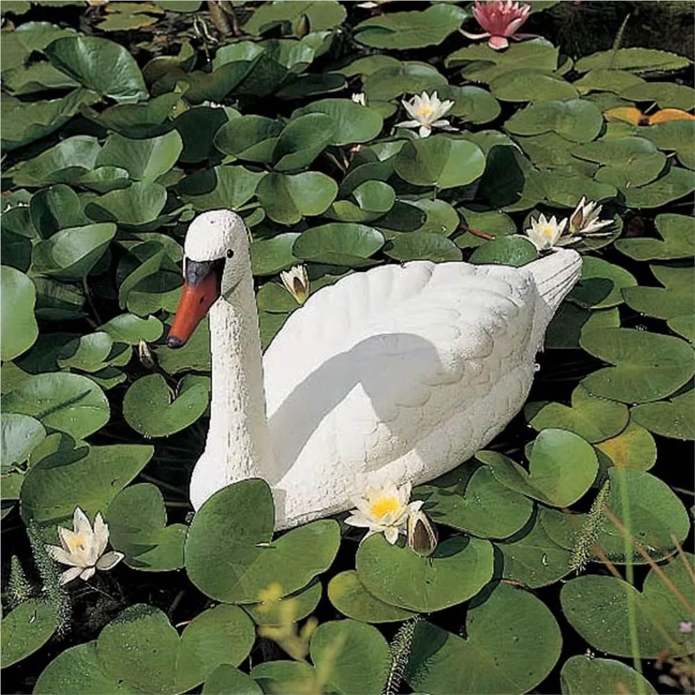 Ubbink White Swan Garden Pond Ornement Plastique