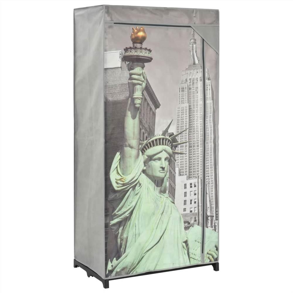 Armoire New York 75x45x160 cm Tissu