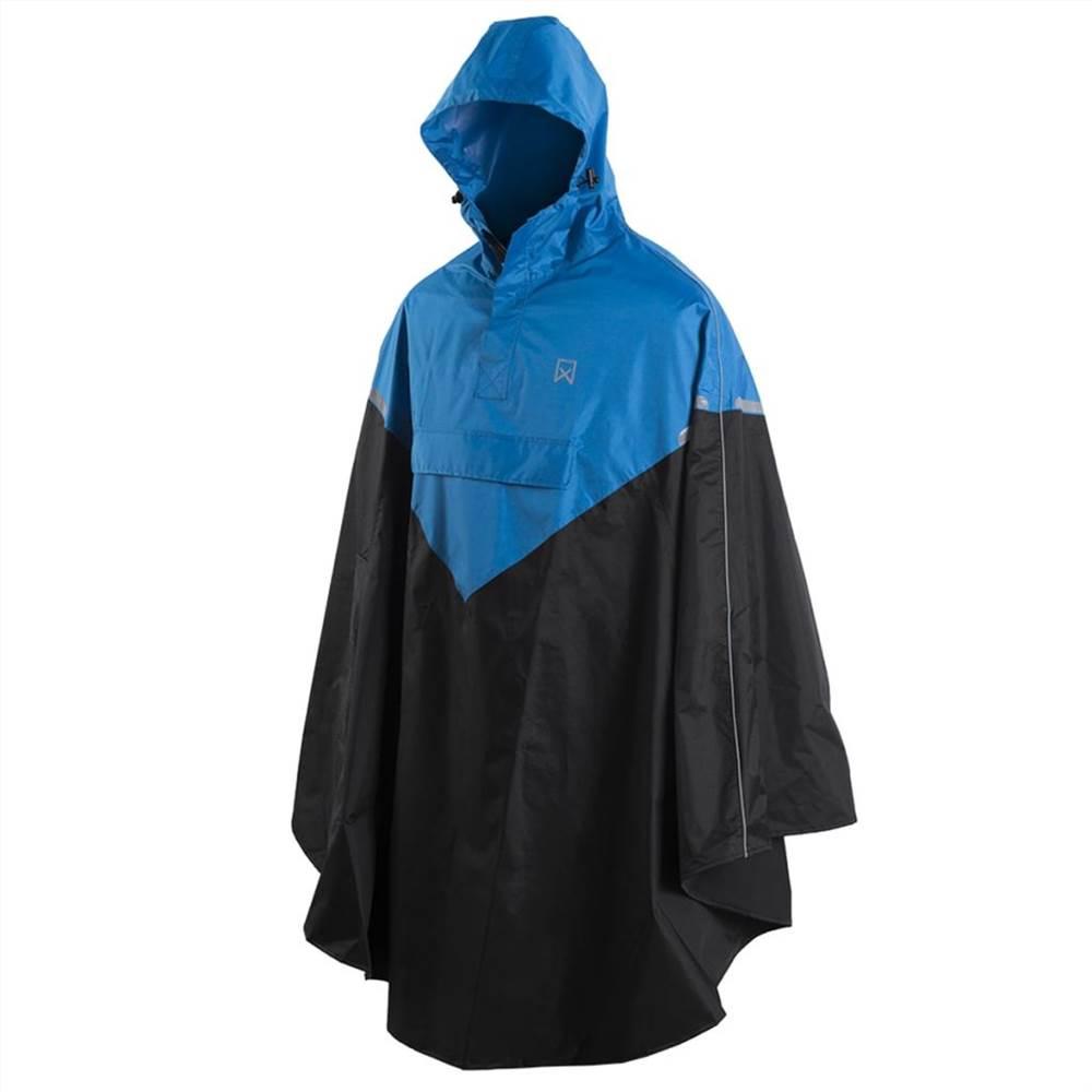 Willex Rain Poncho με κουκούλα Μέγεθος L / XL Μπλε και Μαύρο 29220