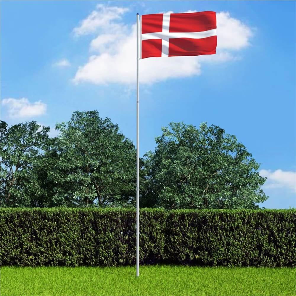 Denmark Flag And Pole Aluminium 6 M