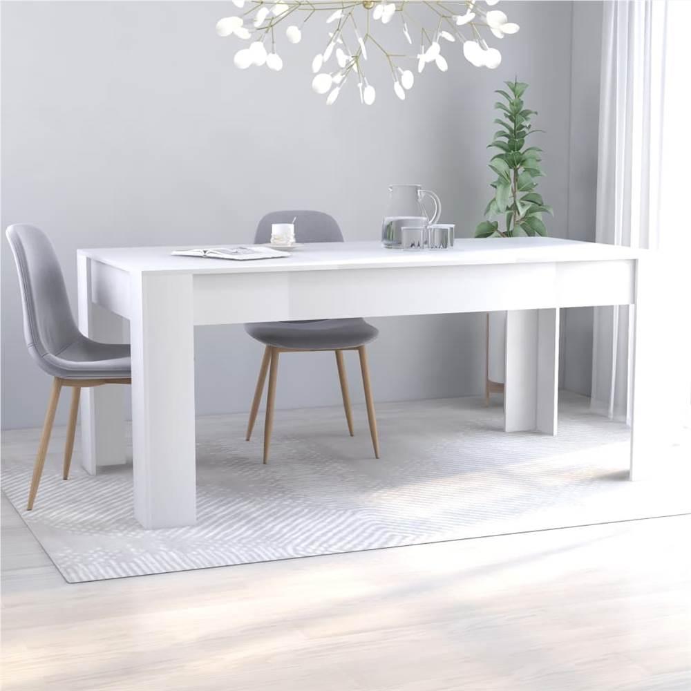 Table à manger blanche 180x90x76 cm aggloméré