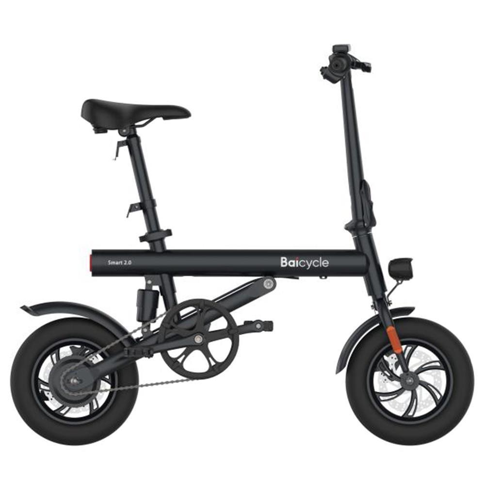 Baicycle Mini Electric Faltrad 12-Zoll-Reifen 7.8 Ah Batterie 250 W Motor Max. Geschwindigkeit 25 km / h Doppelscheibenbremse Moped-Modus max. 50 km Reichweite Aluminiumlegierungskörper 3 Fahrmodi - Schwarz