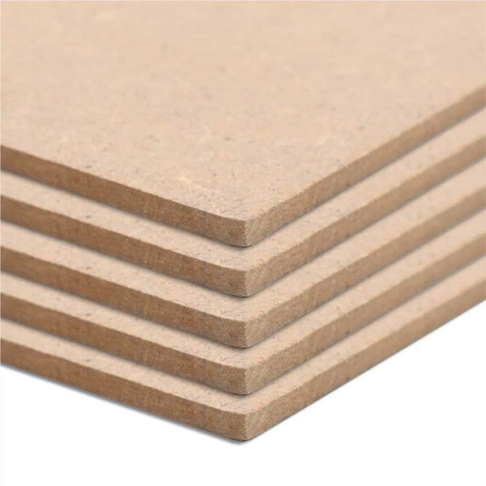 10 pièces feuilles de MDF rectangulaires 120x60 cm 2.5 mm