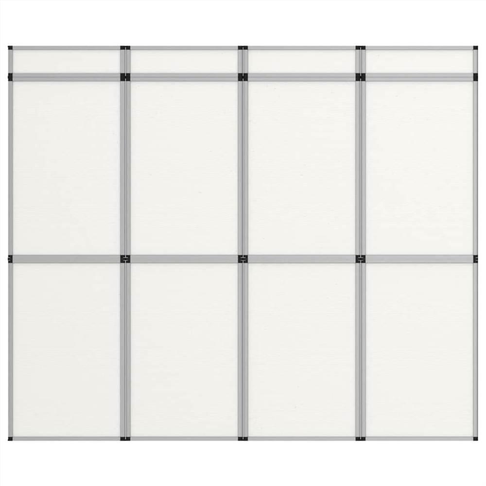 12-Panel Folding Exhibition Display Wall 242x200 cm White
