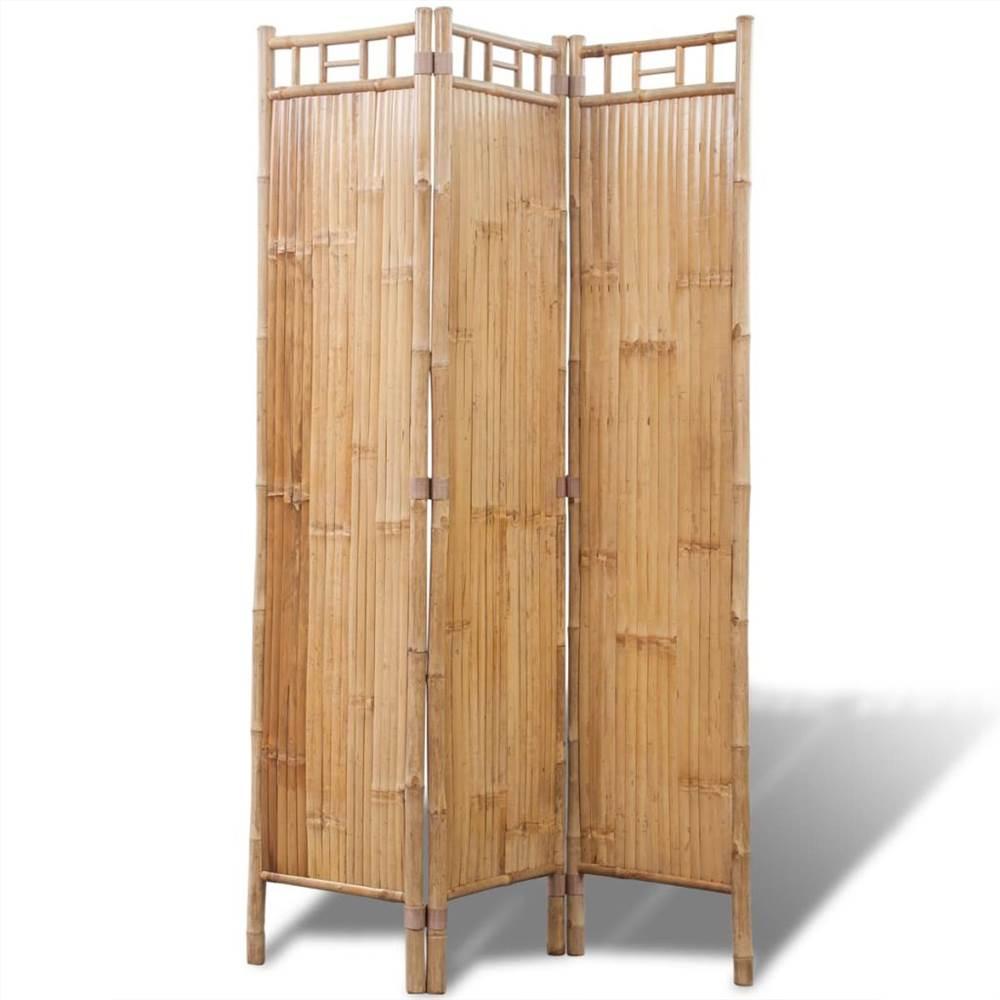 Séparateur de pièce en bambou à 3 panneaux