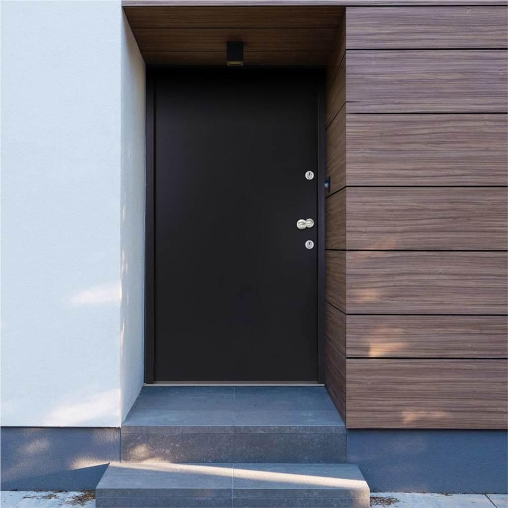 ประตูหน้าอลูมิเนียมสี Anthracite 90x200 ซม