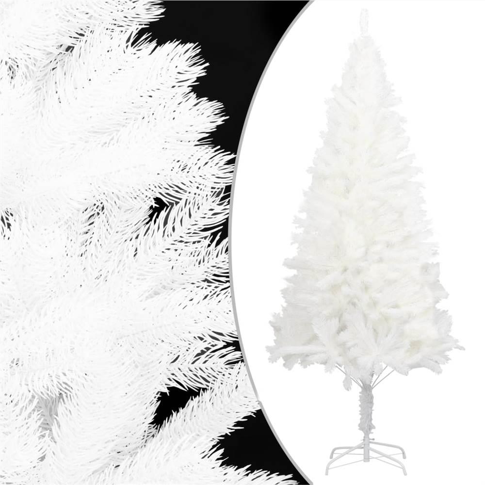 Aiguilles réalistes pour sapin de Noël artificiel blanc 120 cm