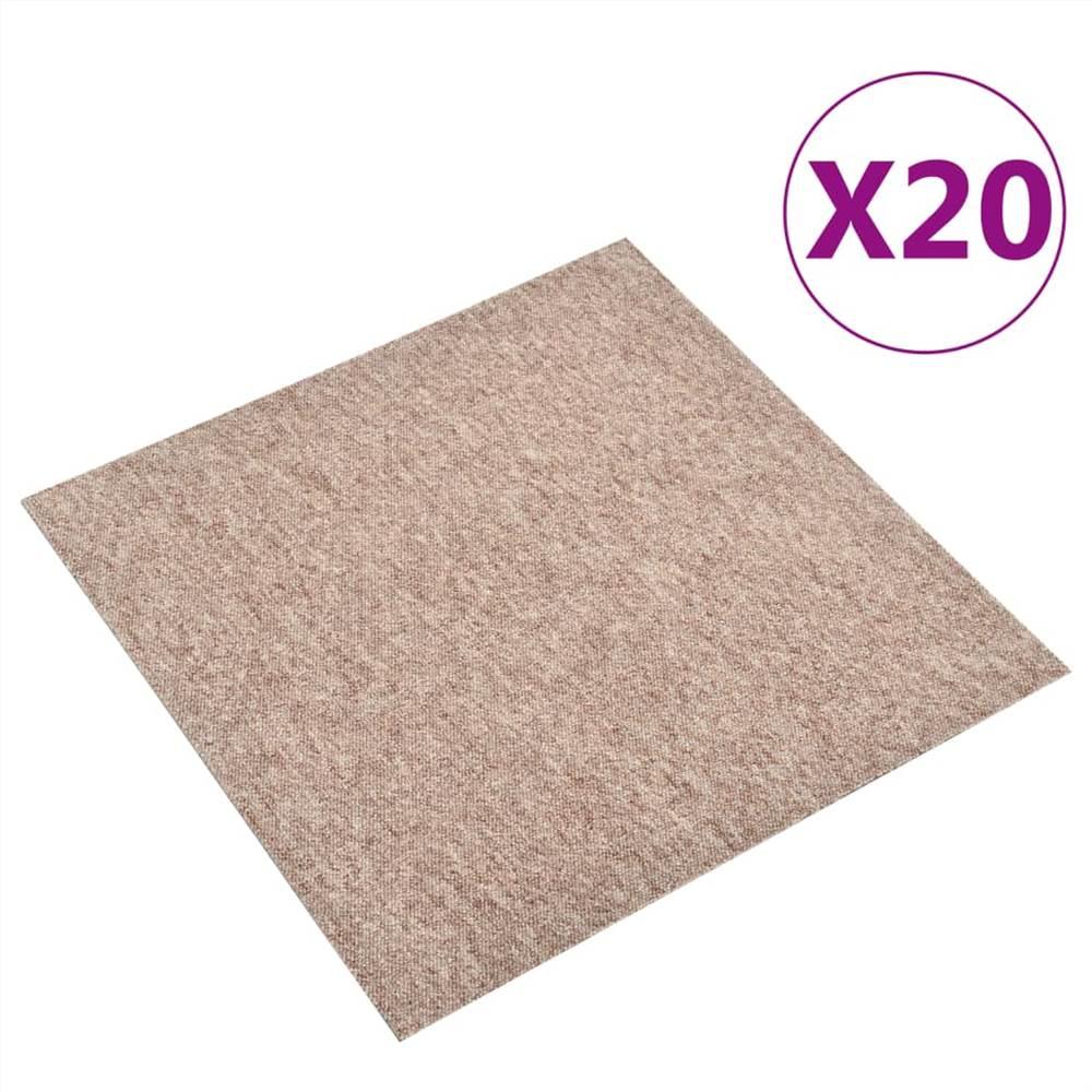 Teppichbodenfliesen 20 Stk. 5 m² 50x50 cm Beige