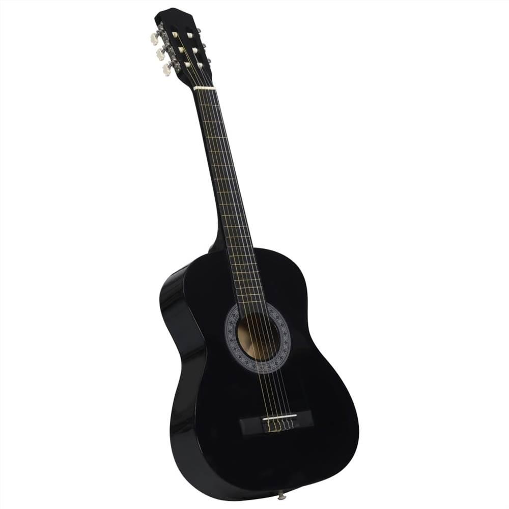 """Guitare classique pour débutant et enfant noir 3/4 36 """""""
