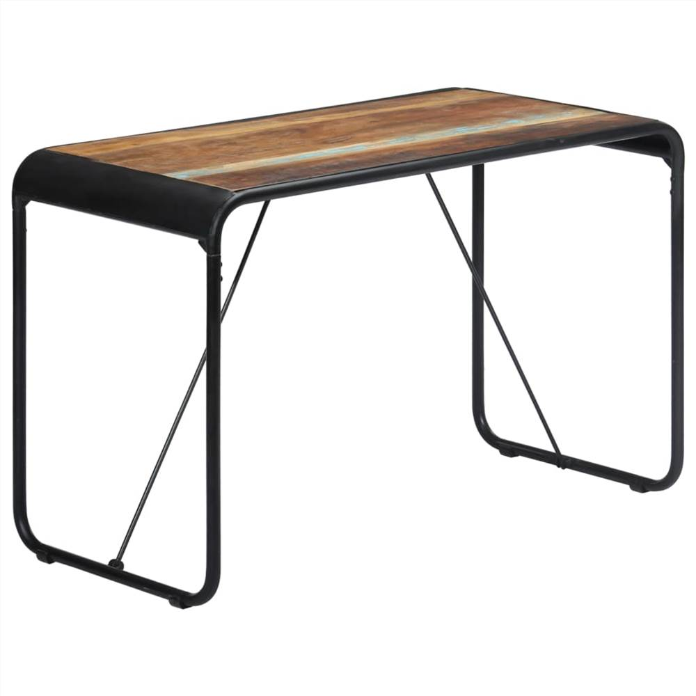 Dining Table 118x60x76 cm Solid Reclaimed Wood