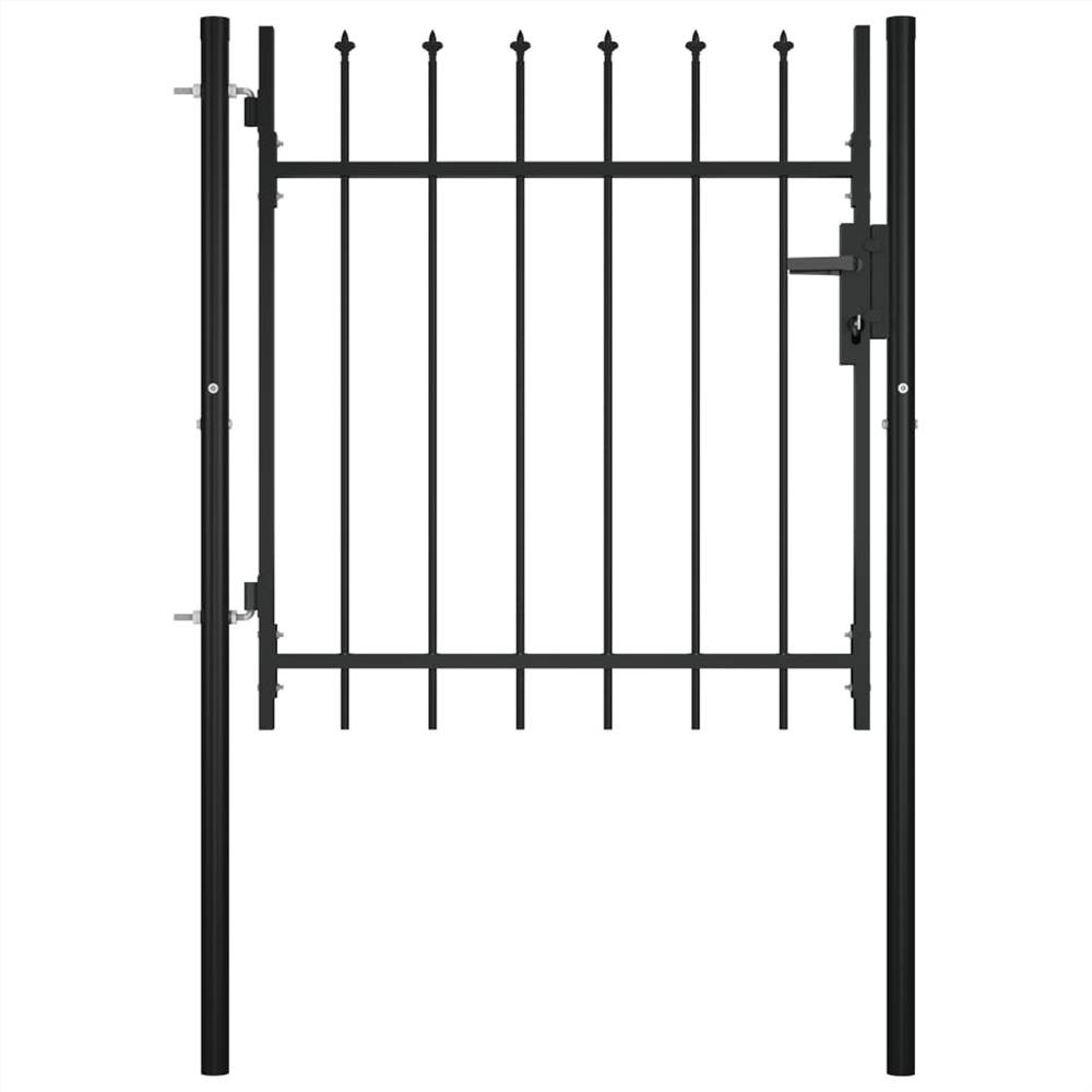 Door Fence Gate with Spear Top 100x75 cm