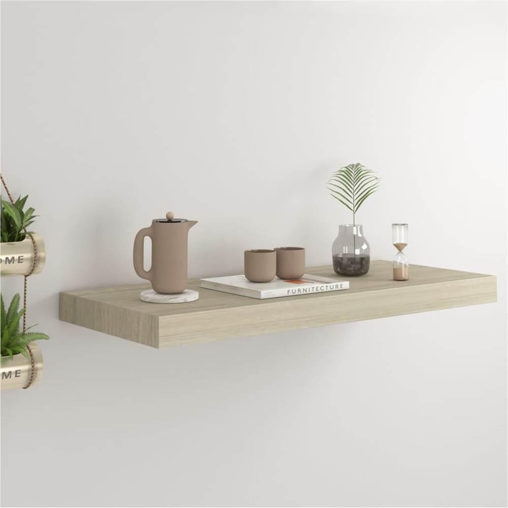 Floating Wall Shelf Oak 60x23.5x3.8 cm MDF