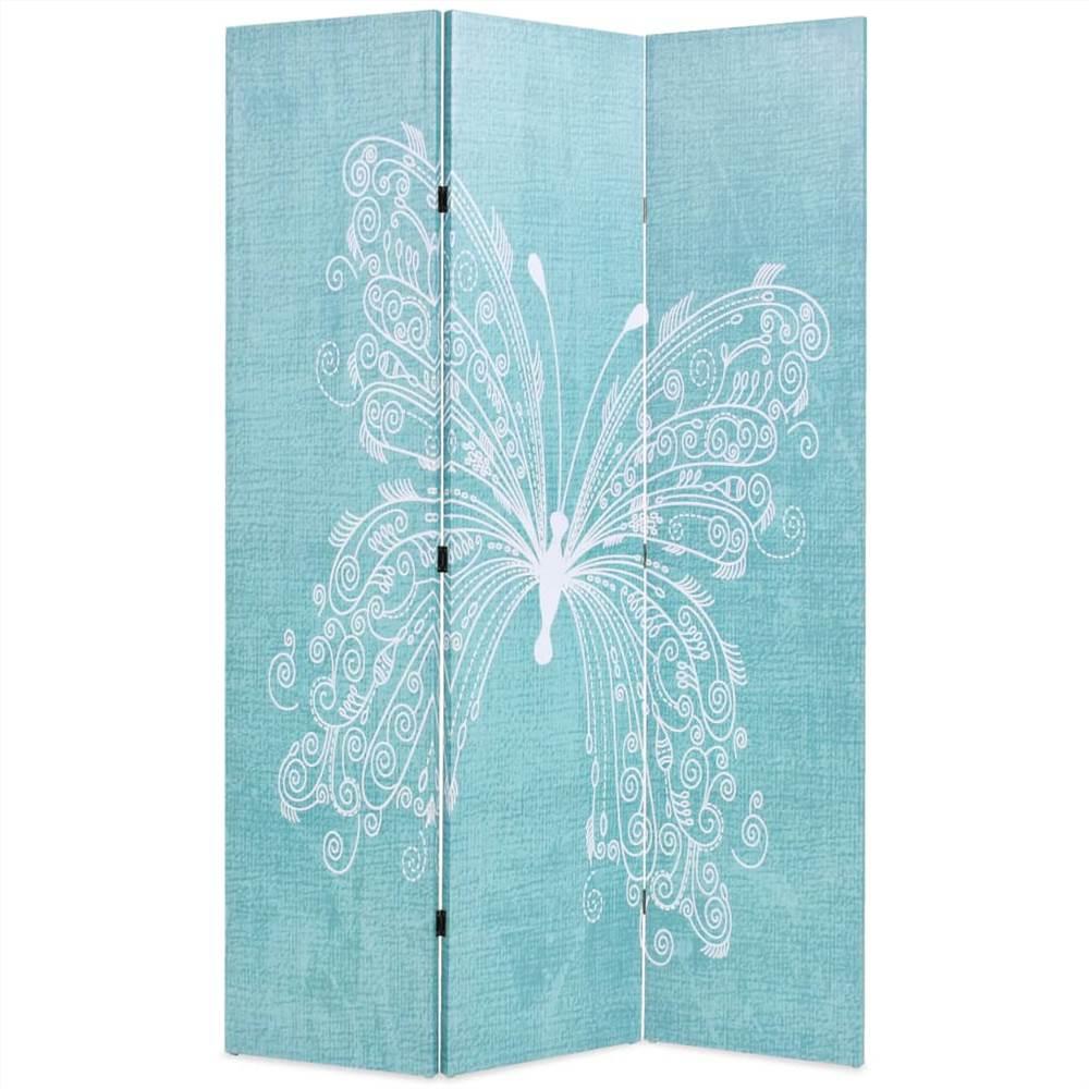 Cloison pliante 120x170 cm Butterfly Blue