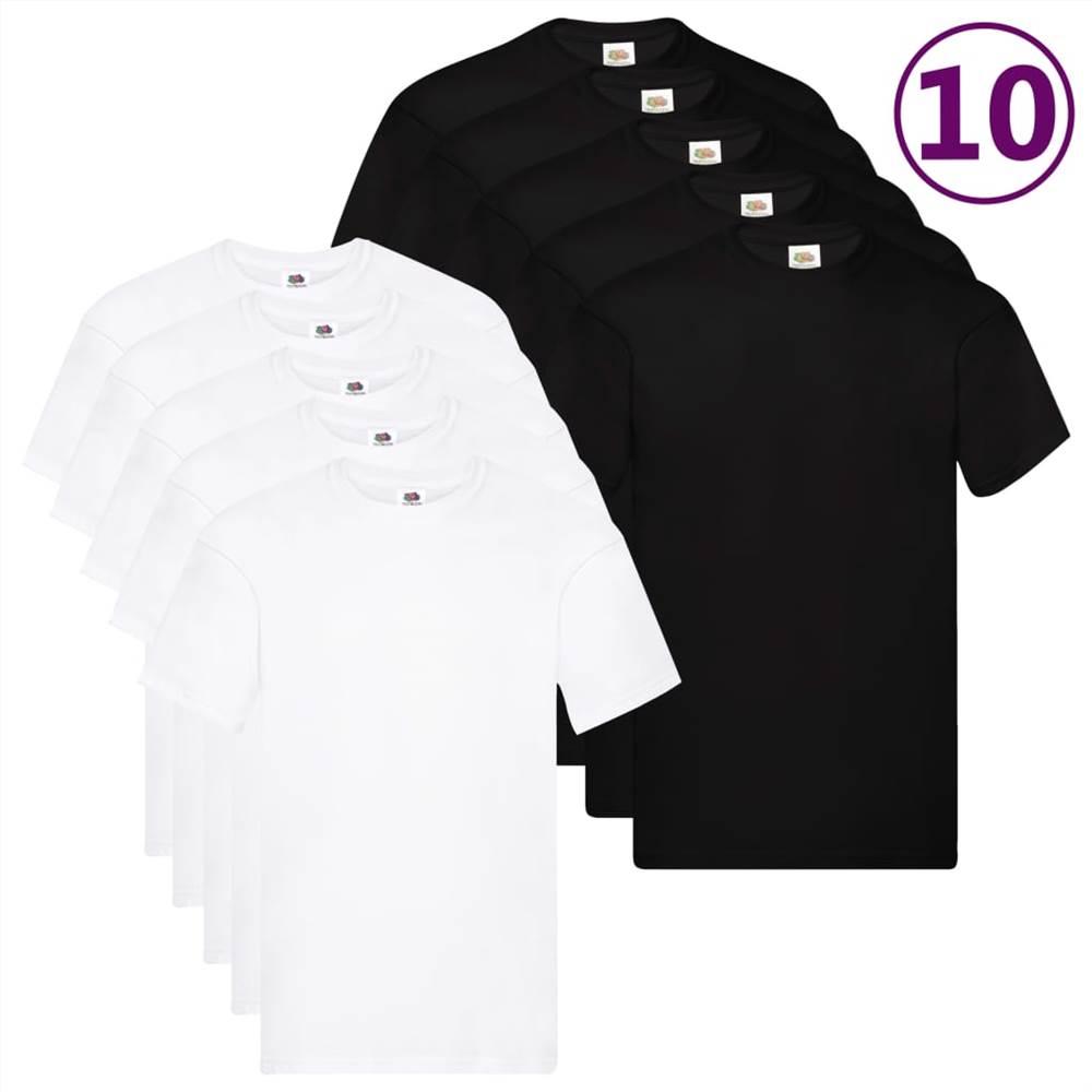 Fruit of the Loom T-shirts originaux 10 pièces 4XL Coton