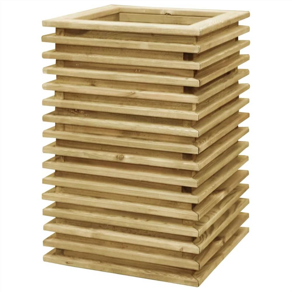 ガーデンレイズドベッド50x50x80cm含浸パインウッド